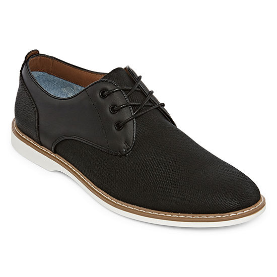 JF J.Ferrar Mens Jf Reeves Lace-up Round Toe Oxford Shoes