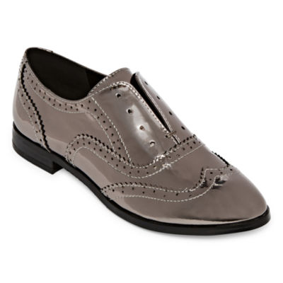 Nicole By Nicole Miller Womens Vigar Oxford Shoes Slip-on Closed Toe
