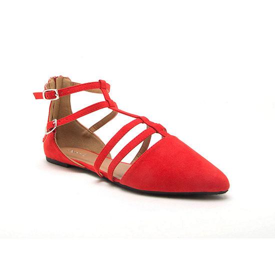 Qupid Womens Pika-191x Ballet Flats Pointed Toe