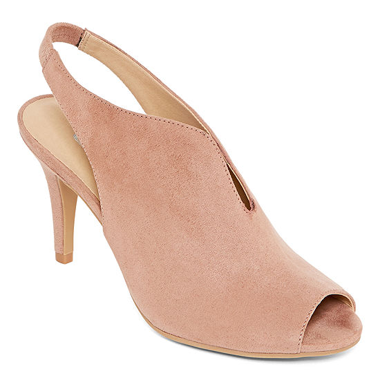 CL by Laundry Womens Maya Elastic Peep Toe Stiletto Heel Pumps
