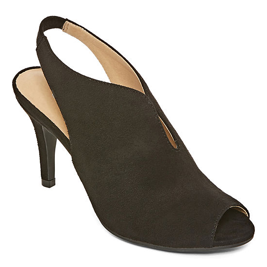 CL by Laundry Womens Maya Elastic Peep Toe Stiletto Heel Pumps