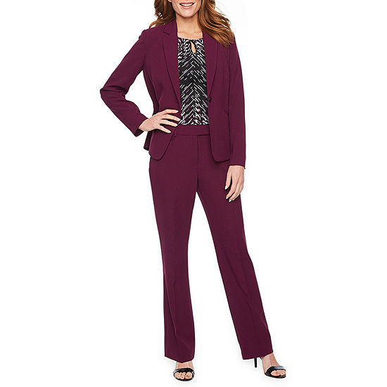 1fe440e55832e6 Chelsea Rose Long Sleeve Suit Jacket or Sleeveless Print Blouse or Suit  Pant - JCPenney