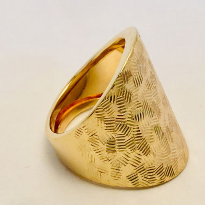 Made in Italy Womens 14K Gold Stretch Ring