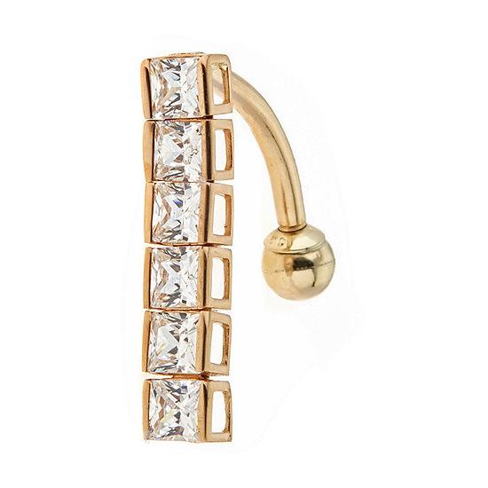 14K Gold Belly Ring