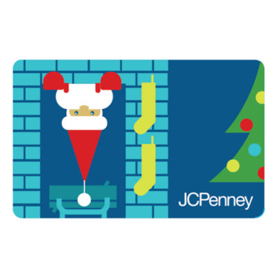 Santa in the Chimney Gift Card
