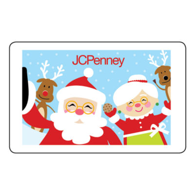 Santa and Mrs. Claus Selfie Gift Card