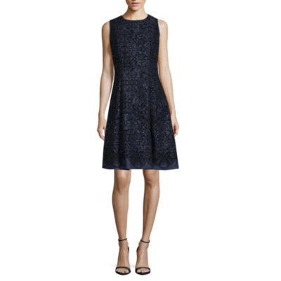 Weslee Rose Sleeveless Floral A-Line Dress