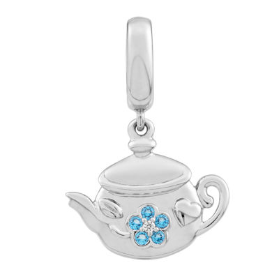 PS PERSONAL STYLE Blue Topaz Sterling Silver Charm