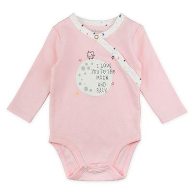Mac And Moon 3-Pk. Bodysuits - Girls 3-pc. Bodysuit Set-Baby Girls