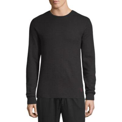 U.S. Polo Assn. Mens Knit Pajama Top Long Sleeve