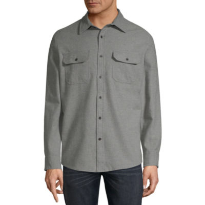 St. John's Bay Mens Long Sleeve Button-Front Shirt