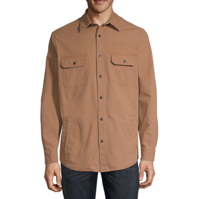 St. John's Bay Canvas Lightweight Shirt Jacket