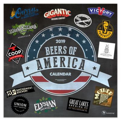 Tf Publishing 2019 Beers Of America Wall Calendar