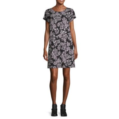 Liz Claiborne Studio Button Back Dress - Tall
