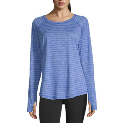 Xersion Long Sleeve Round Neck T-Shirt-Womens