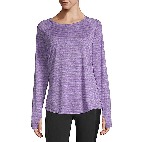 f9f0f4f9d30 Xersion Long Sleeve Crew Neck T Shirt Womens JCPenney