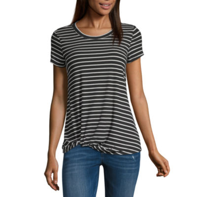 SS Side Knot Fitted T-shirts