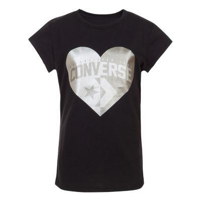 Converse Short Sleeve Graphic T-Shirt - Preschool Girls
