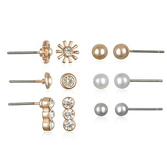 Mixit 6 Pair Earring Set