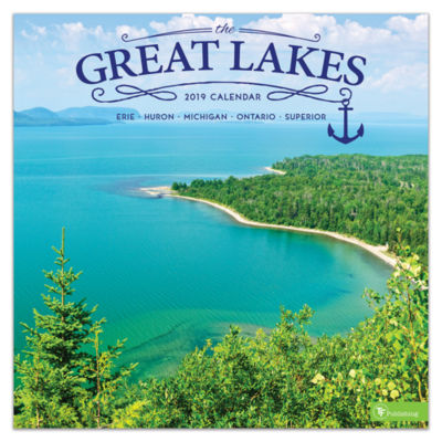 Tf Publishing 2019 Great Lakes Wall Calendar