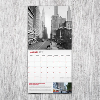 Tf Publishing 2019 New York - Then And Now Wall Calendar