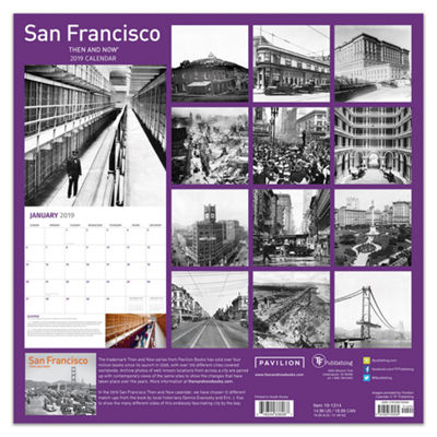 Tf Publishing 2019 San Francisco - Then And Now Wall Calendar