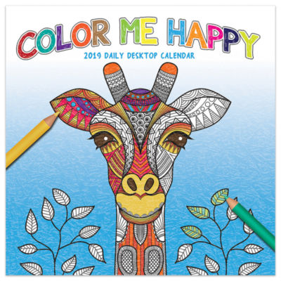 Tf Publishing 2019 Color Me Happy Daily Desktop Calendar