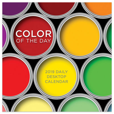 Tf Publishing 2019 Color Of The Day Daily Desktop Calendar