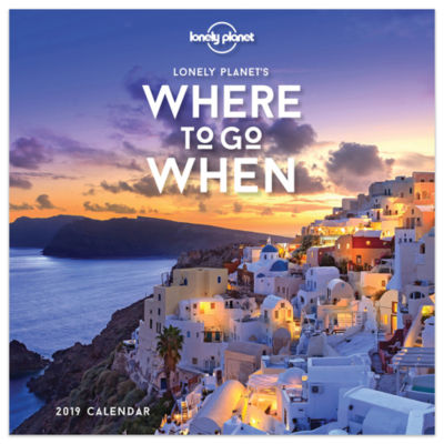Tf Publishing Where To Go When By Lonely Planet Daily Desktop Calendar