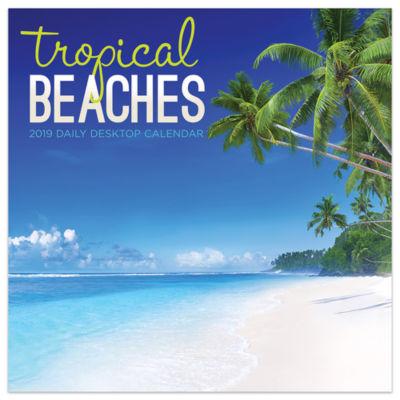 Tf Publishing 2019 Tropical Beaches Daily Desktop Calendar