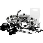 Gibson 30pc Total Kitchen Cookware & Kitchen Tool Combo Set