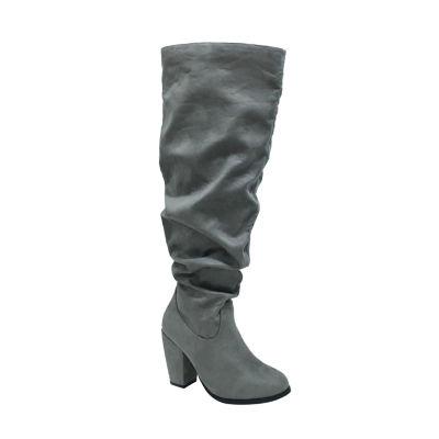 Michael Antonio Womens Ma Kianna-Sue Slouch Boots Block Heel Pull-on