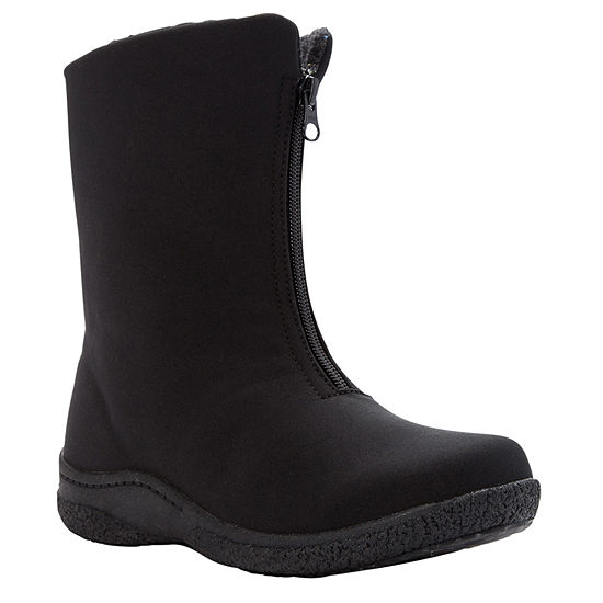 Propet Womens Waterproof Insulated Winter Boots Flat Heel Zip