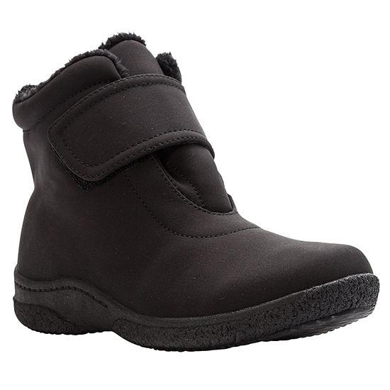 Propet Womens Waterproof Insulated Flat Heel Hook and Loop Winter Boots