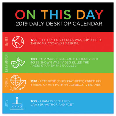 Tf Publishing 2019 On This Day Daily Desktop Calendar