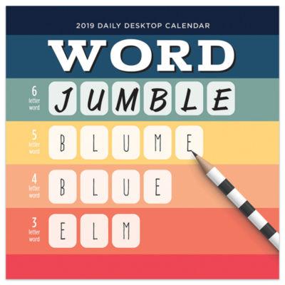 Tf Publishing 2019 Word Jumble Daily Desktop Calendar