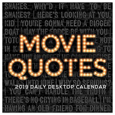 Tf Publishing 2019 Movie Quotes Daily Desktop Calendar