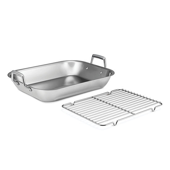 "Tramontina Gourmet 18.75"" Roasting Pan with Basting Rack"
