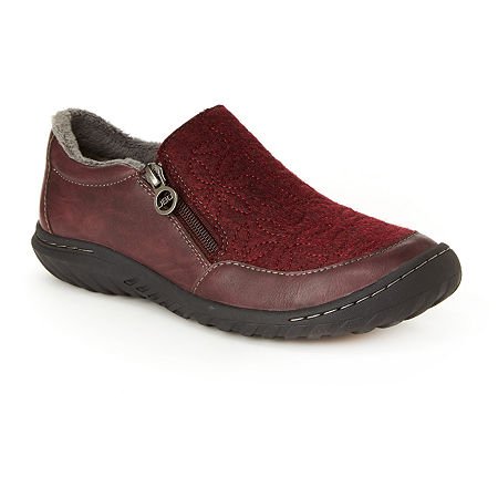 J Sport By Jambu Womens Crimson Slip-On Shoe, 6 Medium, Red