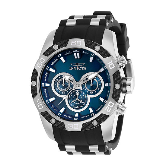 Invicta Mens Chronograph Black Bracelet Watch-25833