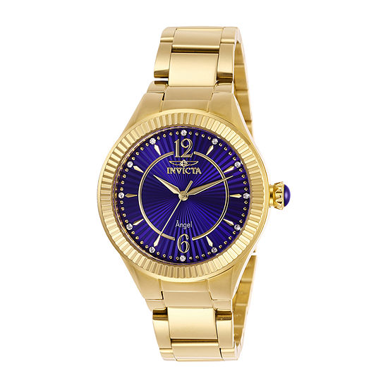 Invicta Angel Womens Gold Tone Stainless Steel Bracelet Watch - 28281
