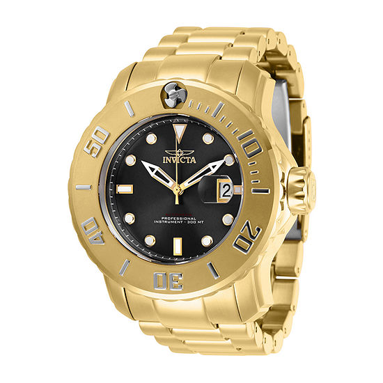 Invicta Pro Diver Mens Automatic Gold Tone Stainless Steel Bracelet Watch - 29354