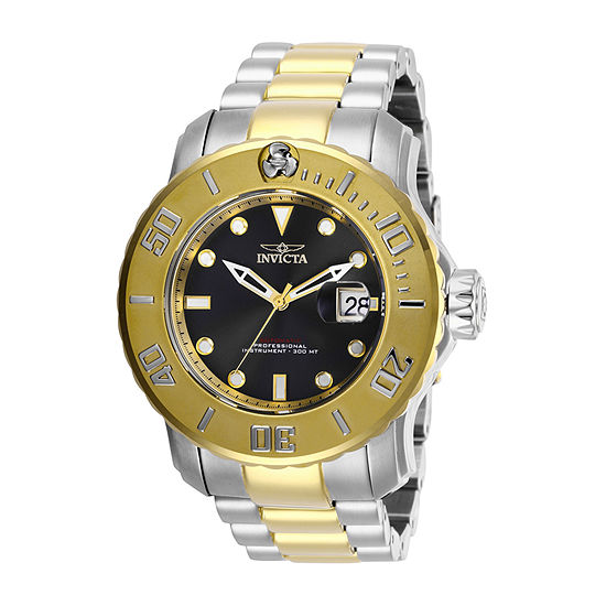 Invicta Pro Diver Mens Automatic Two Tone Stainless Steel Bracelet Watch - 29356