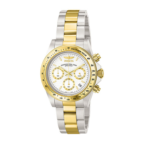 Invicta Speedway Mens Chronograph Two Tone Stainless Steel Bracelet Watch - 9212
