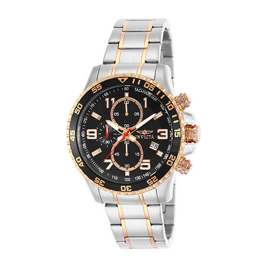 Invicta Specialty Men Chronograph Two Tone Stainless Steel Bracelet Watch-14877