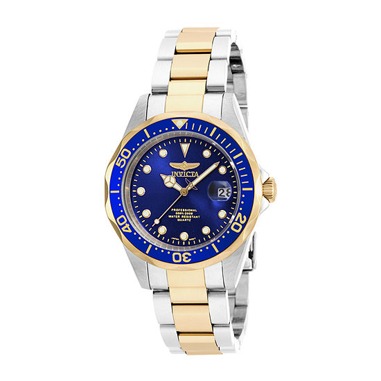 Invicta Pro Diver Mens Two Tone Stainless Steel Bracelet Watch-17050