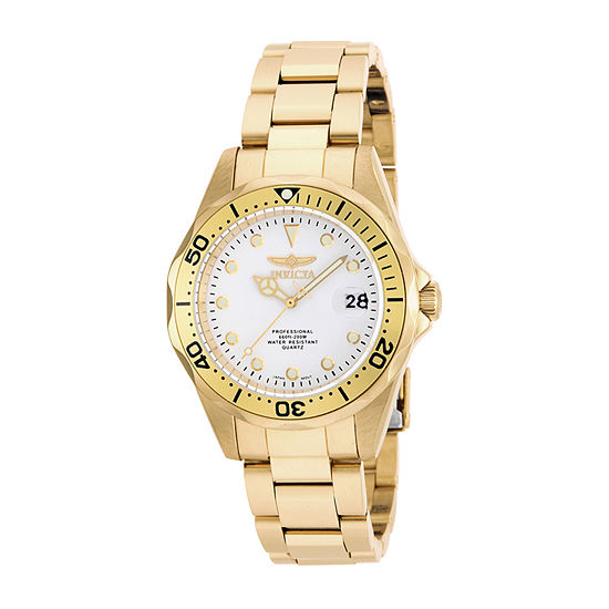 Invicta Pro Diver Mens Gold Tone Stainless Steel Bracelet Watch-17053