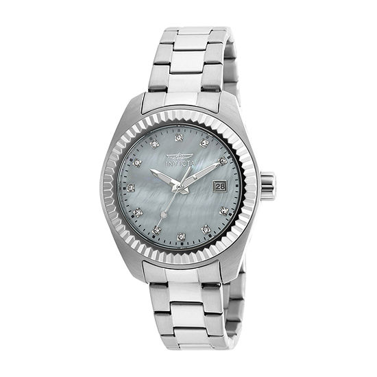 Invicta Specialty Lady Womens Silver Tone Stainless Steel Bracelet Watch - 20351