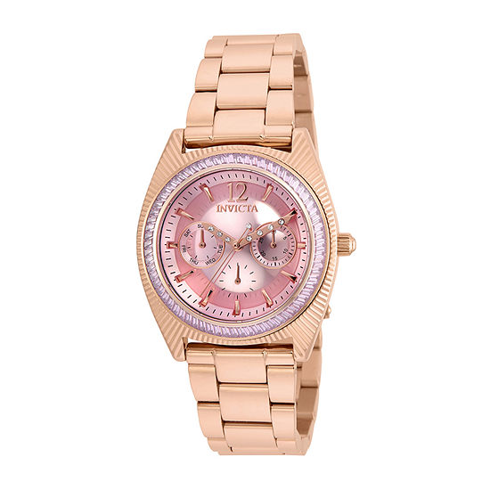 Invicta Wildflower Womens Rose Goldtone Stainless Steel Bracelet Watch-23464