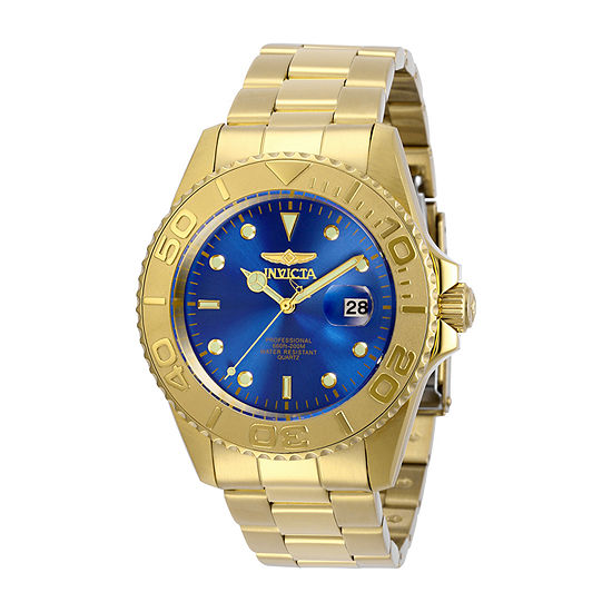 Invicta Pro Diver Mens Gold Tone Stainless Steel Bracelet Watch-29947